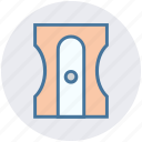 pencil, pencil cutter, pencil sharpener, school, sharpener, stationery icon
