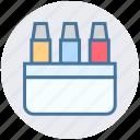 color pencil, design, draw, graphic, office material, pencils icon