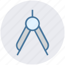 compass, design, drawing, graphic, square, tool icon