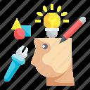 creative, mind, brain, thinking, intelligence