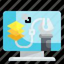 graphic, design, art, screen, monitor