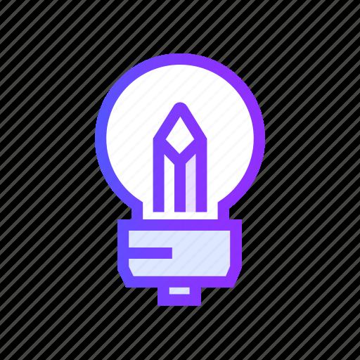 abstract, bulb, creative, idea, light icon
