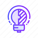 bulb, creative, idea, light, shape, solution icon