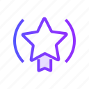 achievement, badge, premium, quality, star icon
