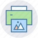 color printer, device, fax, paper, photocopy, print, printer icon