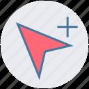 creative, cursor, design, direct, graphic, plus, selection icon