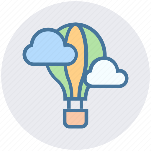 Air, balloon, clouds, hot air, sky, travel, vacation icon - Download on Iconfinder