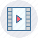 cinema reel, film, media, movie, play, reel icon