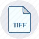 document, extension, file, page, sheet, tiff, tiff file icon