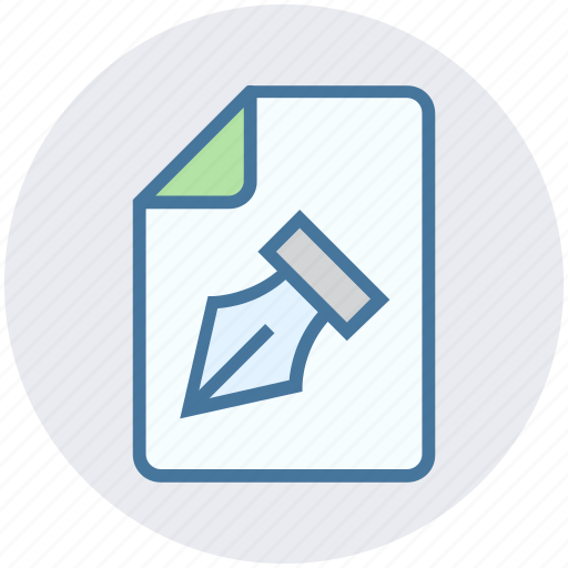 contract, document, file, graphic, page, paper, pen icon