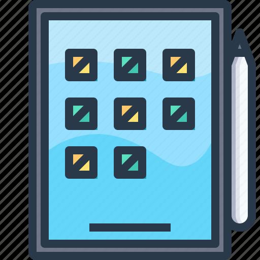 app, device, ipad, tablet, technology icon