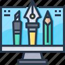 computer, design, digital art, paint, pen, tool icon