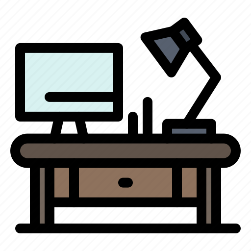 business, lamp, office, table icon
