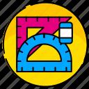 creative, design, graphic, illustration, rule, tool, tools icon