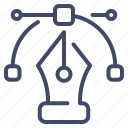 graphic design, node, path, pentool, vector icon