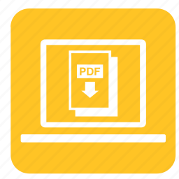 computer, design, device, graphic, laptop, pdf, technology icon