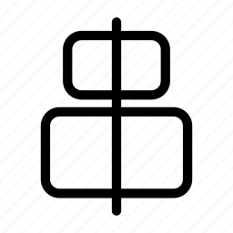 align, align elements, align horizontal, center icon