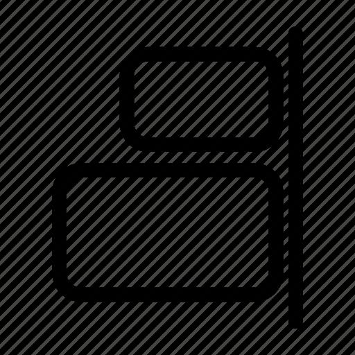 align, align graphics, align right, right align icon