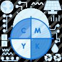cmyk, color, colors, colour, web, webdesign icon