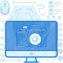 cam, camera, computer, monitor, photography, picture, screen icon