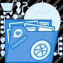 artwork, dribble, dribblr, file, folder, image, portfolio