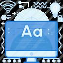 computer, font, monitor, paragraph, screen, text