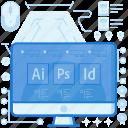 adobe, application, computer, design, graphic, monitor, screen icon