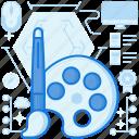 brush, color, colours, graphic, paint, painting, web icon