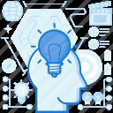 bulb, idea, innovative, light, lightbulb, thought icon