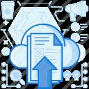 arrow, cloud, database, storage, transfer, up, upload