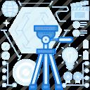 camera, design, graphic, image, photgoraphy, tripod, web icon