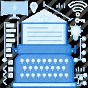 device, type, typewriter, typing, web, write