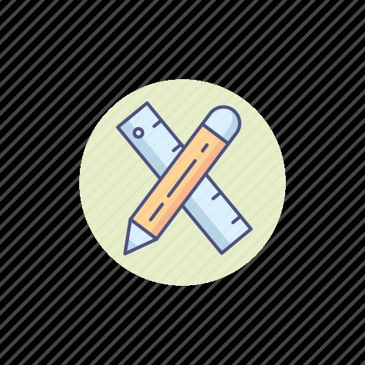 art, artist, designer, graphic, pencil, ruler, stationery icon