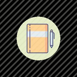 artist, book, designer, drawing, equipment, sketchbook, tools icon