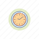 clock, designer, time, wall, watch icon