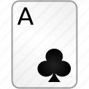 ace, card, casino, clubs, poker icon