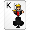card, casino, clubs, king, poker icon