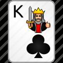 clubs, king, card, casino, poker
