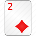 card, casino, diamonds, poker, two icon