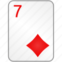 card, casino, diamonds, poker, seven icon