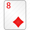 card, casino, diamonds, eight, poker icon