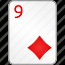 card, casino, diamonds, nine, poker icon