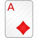 ace, card, casino, diamonds, poker icon