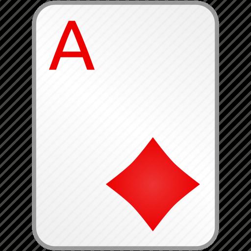 ace, card, casino, diamonds, poker icon