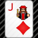 card, casino, diamonds, jack, poker icon
