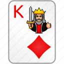 card, casino, diamonds, king, poker icon