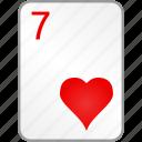 card, casino, hearts, poker, seven icon