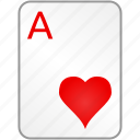 ace, card, casino, hearts, poker icon