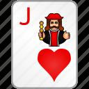 card, casino, hearts, jack, poker icon