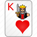 card, casino, hearts, king, poker icon